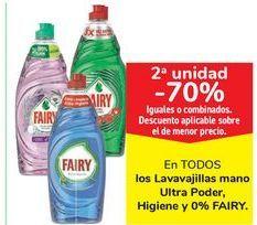 Oferta de En TODOS los lavavajillas mano Ultra Poder, Higiene y 0% FAIRY  por