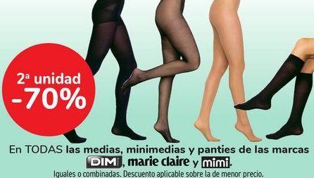 Oferta de En TODAS las medias, minemdias y panties de las marcas DIM, MARIE CLAIRE Y MINI  por