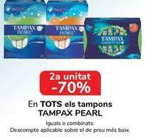 Oferta de En TODOS los tampones TAMPAX Pearl por