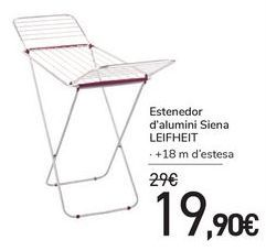 Oferta de Tendedero de aluminio Siena LEIFHEIT por 19€