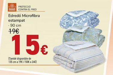 Oferta de Edredón Microfribra estampado  por 15€