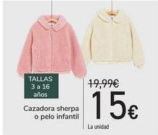 Oferta de Cazadora sherpa o pelo infantil  por 15€