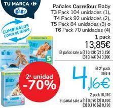 Oferta de Pañales Carrefour Baby  por 13,85€