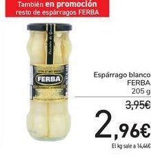 Oferta de Espárrago blanco FERBA por 2,96€