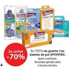 Oferta de En TODOS los guantes y fregonas SPONTEX  por