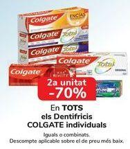 Oferta de En TODOS los dentífricos COLGATE Individuales por