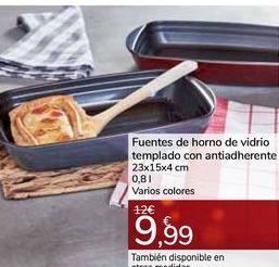 Oferta de Fuentes de horno de vidrio templado con antihaderente por 9,99€