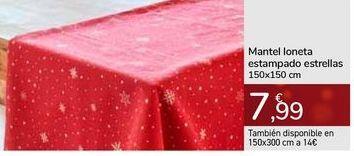 Oferta de Mantel loneta estampado estrellas  por 7,99€