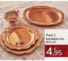 Oferta de Pack 2 bandejas oro  por 4,95€