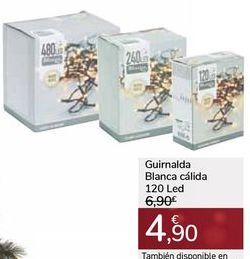 Oferta de Guirnalda Blanca cálida 120 Led por 4,9€