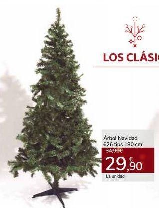 Oferta de Árbol Navidad 626 tips 180 cm por 29,9€