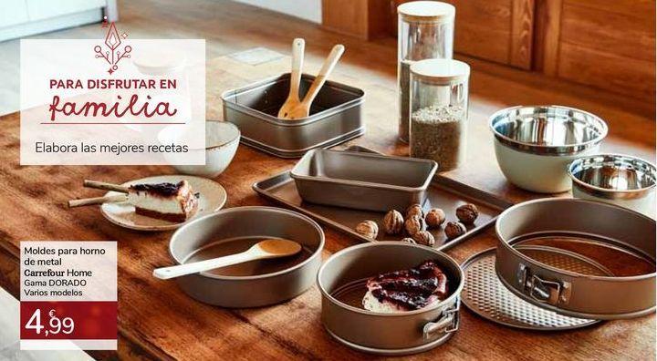 Oferta de Moldes para horno de metal Carrefour Home Gama DORADO por 4,99€