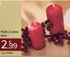 Oferta de Pack 2 velas taco por 2,99€