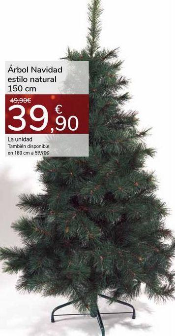 Oferta de Árbol Navidad estilo natural 150cm por 39,9€