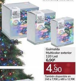 Oferta de Guirnalda Multicolor exterior 120 Led por 4,9€