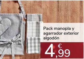 Oferta de Pack manopla y agarrador exterior algodón por 4,99€