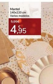 Oferta de Mantel 140x220 Varios modelos por 4,95€