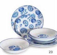 Oferta de Vajilla 18 piezas Mod. Noia Porcelana Santa Clara por 41€