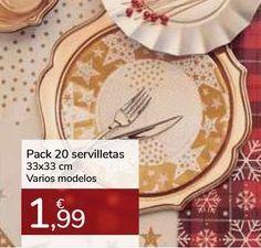 Oferta de Pack 20 servilletas 33x33 cm Varios modelos por 1,99€