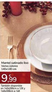 Oferta de Mantel satinado liso Varios colores por 9,99€