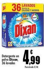Oferta de Detergente en polvo Dixan  por 4,99€
