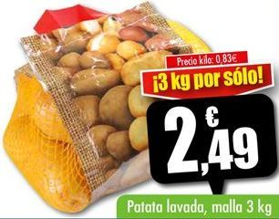 Oferta de Patata lavada  por 2,49€