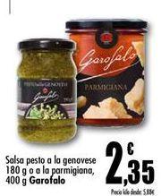 Oferta de Salsa pesto o a la genovese o a la parmigiana Garofalo por 2,35€