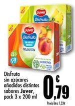 Oferta de Disfruta sin azúcares añadidos distintos sabores Juver por 0,79€
