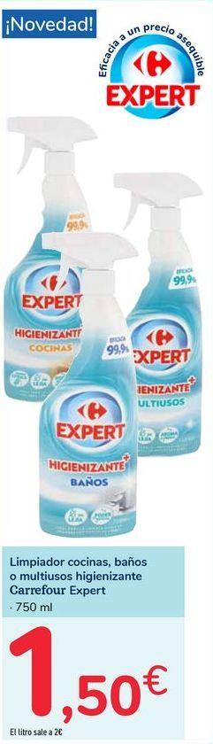 Oferta de Limpiador cocinas, baños o multiusos higinizante Carrefour Expert por 1,5€