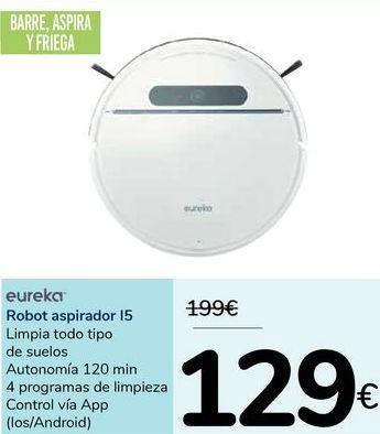 Oferta de Robot aspirador 12 eureka  por 129€