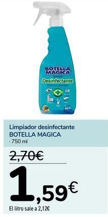 Oferta de Limpiador desinfectante BOTELLA MAGICA  por 1,59€