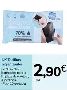 Oferta de NK Toallitas higienizantes  por 2,9€