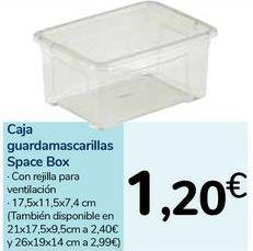 Oferta de Caja guardamascarillas Space Box por 1,2€