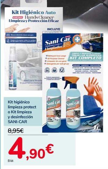 Oferta de Kit higiénico limpieza protect o kit limpieza y desinfección SANI-CAR por 4,9€
