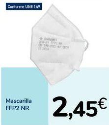 Oferta de Mascarilla FFP2 NR por 2,45€