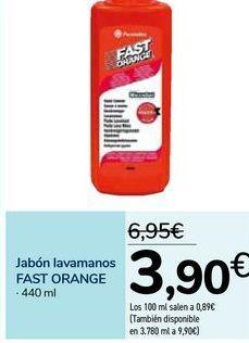 Oferta de Jabón lavamanos FAST ORANGE por 3,9€