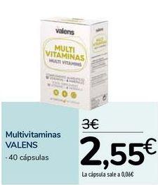 Oferta de Multivitaminas VALENS por 2,55€