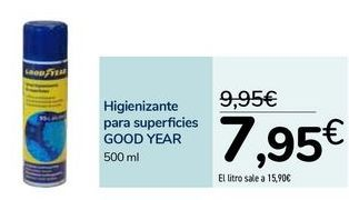 Oferta de Higienizante para superficies GOOD YEAR  por 7,95€
