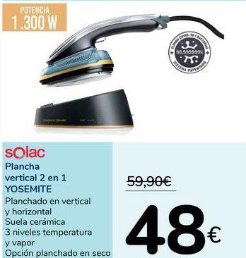 Oferta de Plancha vertical 2 en 1 YOSEMITE Solac por 48€