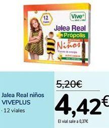 Oferta de Jalea Real niños VIVEPLUS  por 4,42€