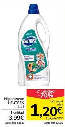 Oferta de Higienizantes NEUTREX  por 3,99€
