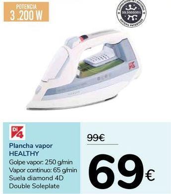 Oferta de Plancha vapor HEALTHY por 69€