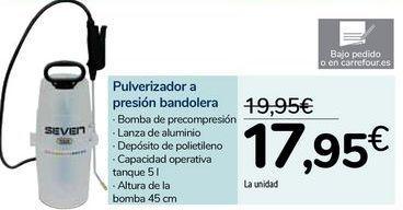 Oferta de Pulverizador a presión bandolera  por 17,95€