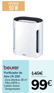 Oferta de Purificador de Aire l3-200 Beurer por 99€