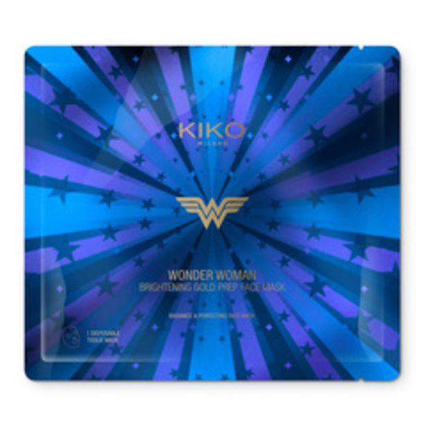 Oferta de Wonder woman brightening gold prep face mask por 1,99€