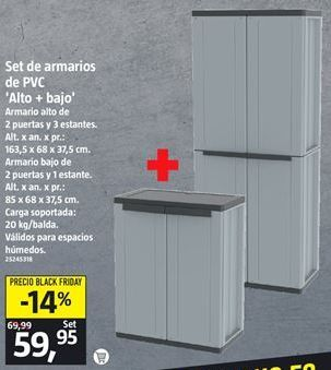 Oferta de Armario de PVC por 59,95€