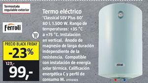 Oferta de Termo eléctrico Ferroli por 99€