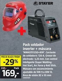 Oferta de Soldador inverter Stayer por 169€