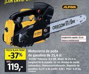 Oferta de Motosierra a gasolina por 119€