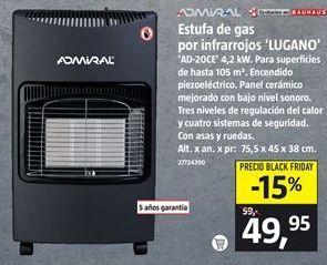 Oferta de Estufa de gas por 49,95€